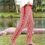 Sidestring Striped Pants 22-C1082