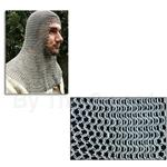 Chainmail Coif, Butted Mild Steel Rings, Full Mantle, Square Face, Code 10 AB2552