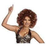 Disco Dollie Light Up Brown Mini Afro (Adult) 100-212777