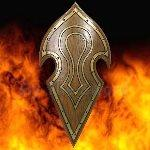 Elven Battle Shield LARP WL7024