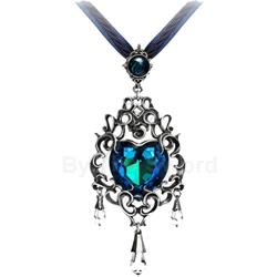 Empress Eugenie's Blue Heart Diamond Necklace 17-P531