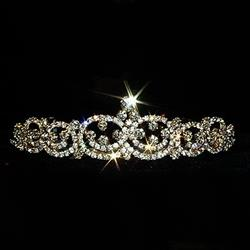 Gold Plated Fancy Crystal Tiara 172-11149
