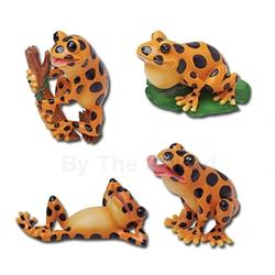 Set of Four Frog Statues