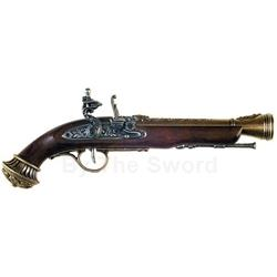 Flintlock Pistol ca. 18th Century Brass