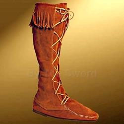 Mens High Suede Boot With Fringe 26-100256