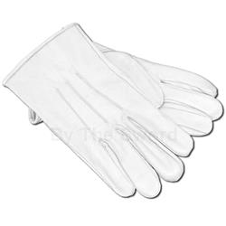 White Leather Gloves 26-101142