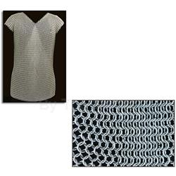 Chainmail Sleeveless Shirt 50in Chest AB2781 Round Ring Butted Mild Steel