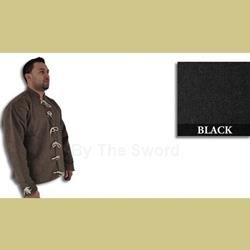 15th C Doublet Wool and Linen Black XXL 29-GB0170