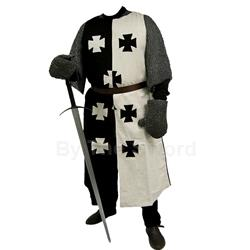 Crusader Surcoat Black and White GB0205 Get Dressed For Battle
