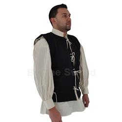 Medieval Waistcoat 15th Cen Blue Wool X-Large GB0229 Get Dressed For Battle