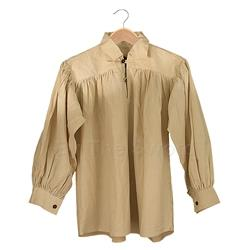 Renaissance Cotton Shirt w-Collar in Natural Large GB3020 Get Dressed For Battle