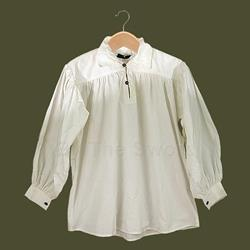 Renaissance Cotton Shirt w-Collar in Natural X-Large GB3030 Get Dressed For Battle