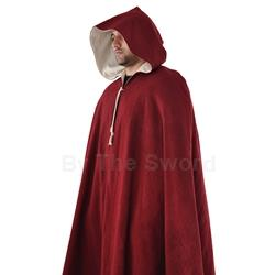 Medieval Cloak in Burgundy Wool GB3283 Get Dressed For Battle