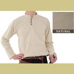 Heavy Cotton Shirt, Natural, Lg 29-GB3563