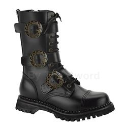 Steam Gear And Buckle Leather Boots 34-3270