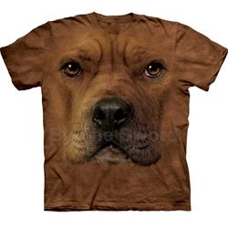 Pit Bull Face Youth's T-Shirt 43-1532620