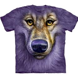 Friendly Wolf Face Youth's Tee Shirt 43-1536120