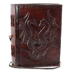 Double Dragon Leather Blank Book 45-BBBCD57