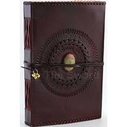 Large God's Eye Leather Blank Book 45-BBBCGE