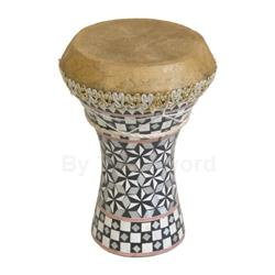 Mosaic Wooden Doumbek, Small 47-WDES