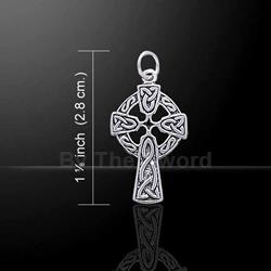 Celtic Knotwork Celtic Cross Silver Charm 52-TC558