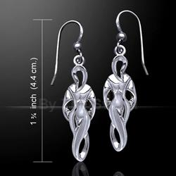 Goddess of  Power Silver Earrings 52-TE2768