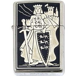 King Richard the Lionheart Damascene Zippo Lighter by Marto 56-M840-003