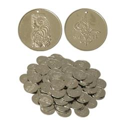 Nickled Brass Coins, Small, 20mm, 100 count  BNCS