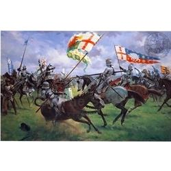 The Battle of Bosworth Medieval Art Print BOS-35