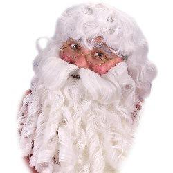 Deluxe Santa Wig, Beard and Eyebrows Set 100-133326