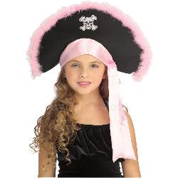 Girls Pirate Hat In Pink Child 100-145029
