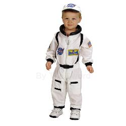 NASA Jr. Astronaut Suit White Toddler Costume 100-153075