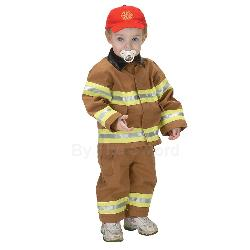 Jr. Fire Fighter Suit Tan Toddler Costume 100-153082