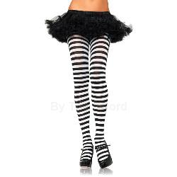Striped Nylon Tights Plus Adult 100-178227