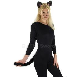 Black Cat Ears and Tail  100-182080