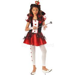 Wonderlands Queen of Hearts Tween Costume 100-194804