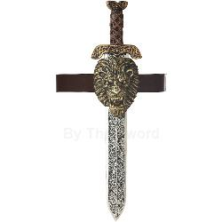 Roman Sword With Gold Lion Sheath Adult 100-194603