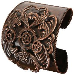 Steampunk Antique Copper Bracelet Adult 100-198449