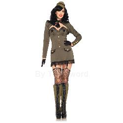 Pin Up Army Girl Adult Costume 100-212655