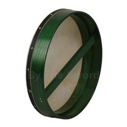 "Bodhran 18""x3.5"", Fix, Green, Single BTGTG"
