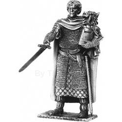 Sir Galahad and Chair Pewter Sculpture METR004