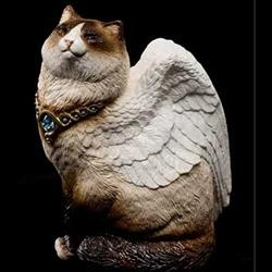 Bird-Winged Flap Cat Birman Statue