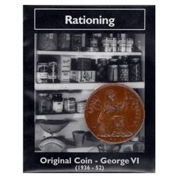 George VI Rationing Bronze Penny WWII Original Coin WW2CP-5